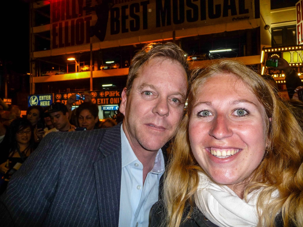 Laura hat in New York Kiefer Sutherland getroffen