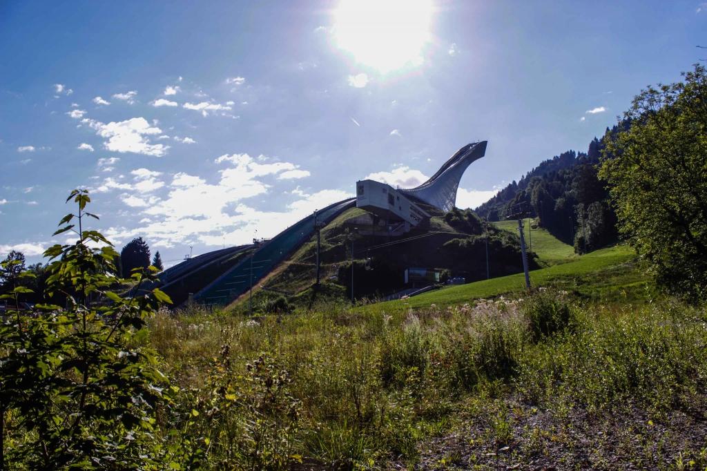 Skischanze Garmisch im Sommer