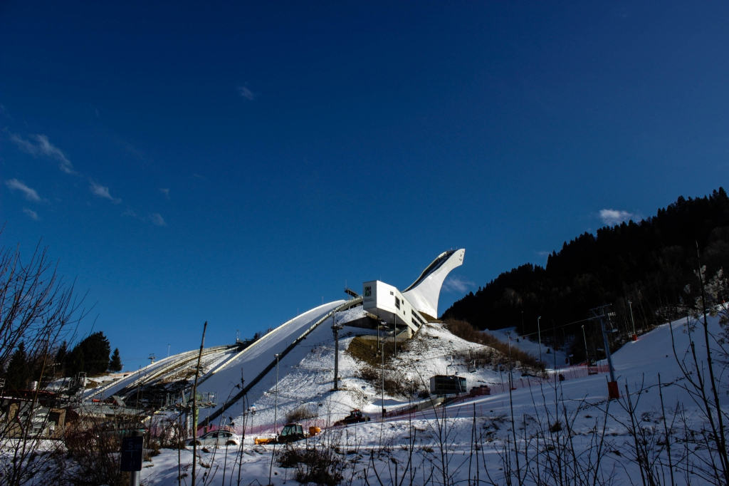 Skischanze Garmisch im Winter