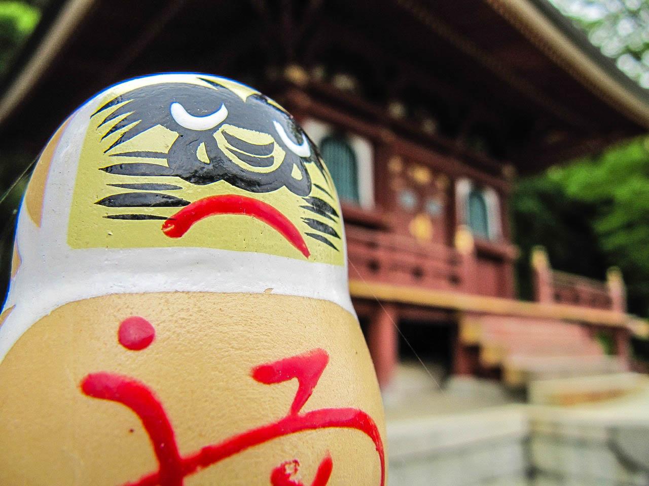 Eine typische Daruma-Figur