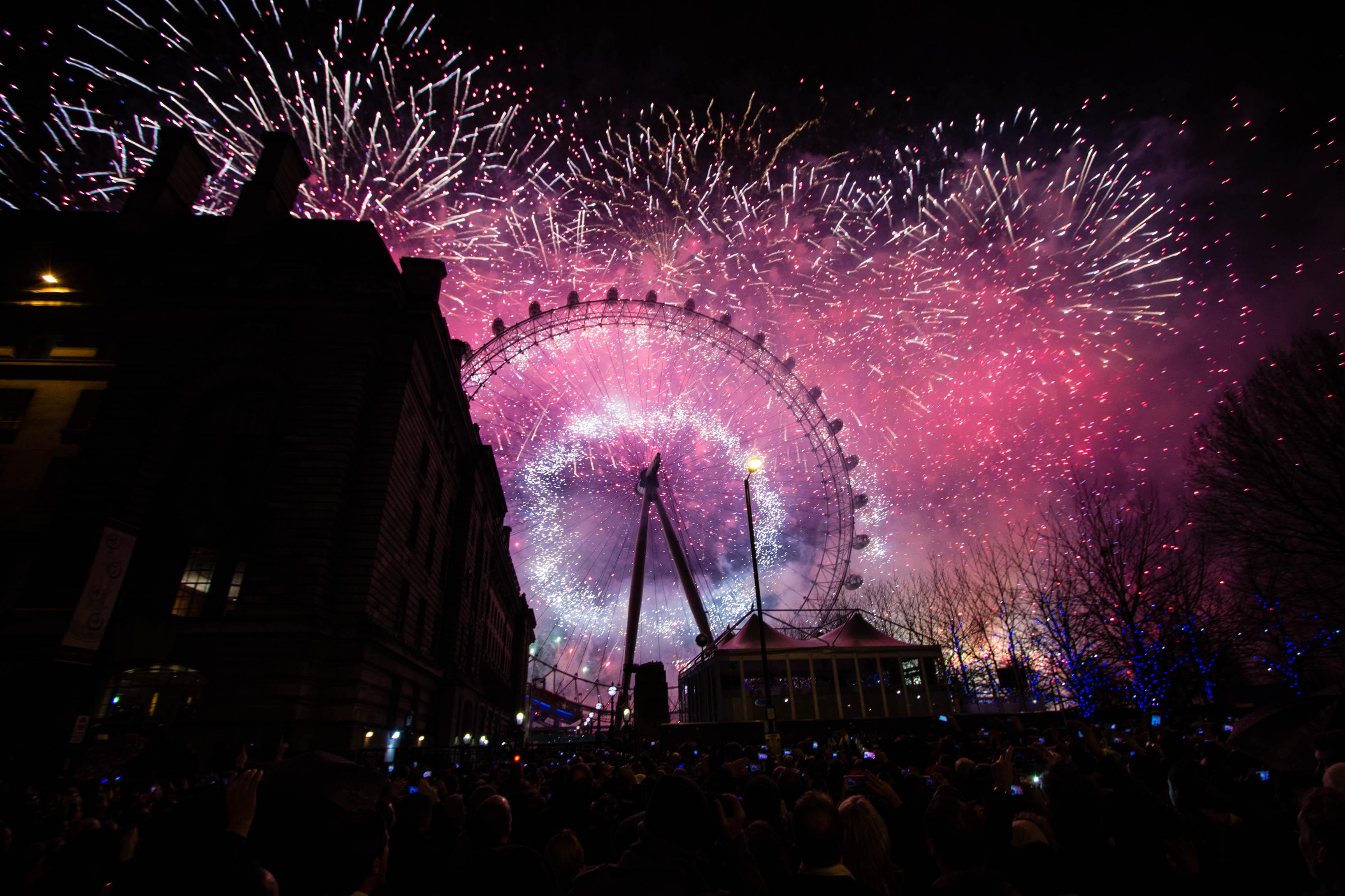 Feuerwerk in London 2013/2014
