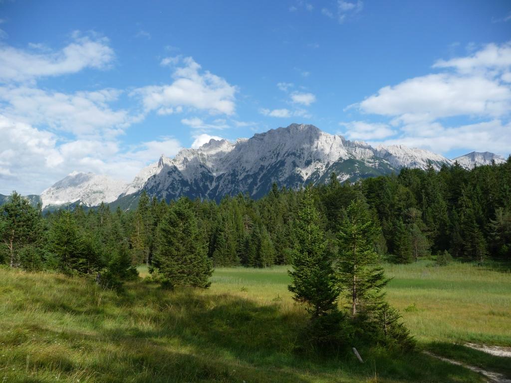 Blick aufs Karwendelgebirge