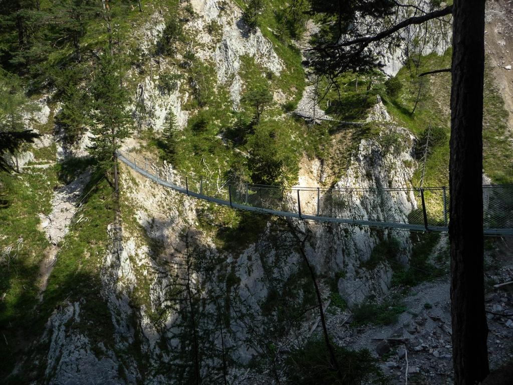 Die neue Sulzleklamm-Hängebrücke