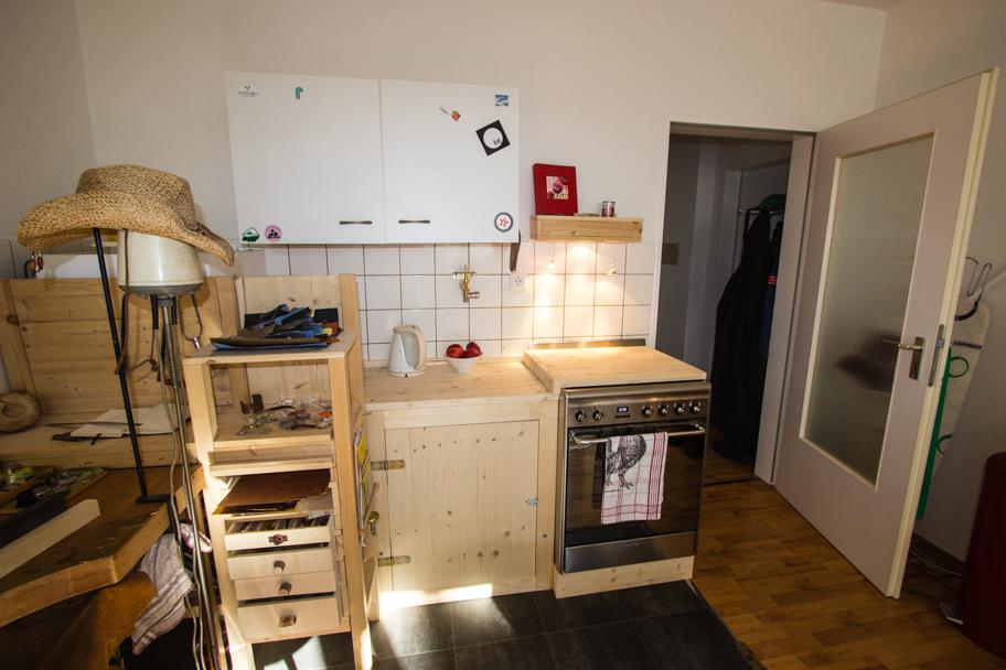 Jochens Wohnzimmer mit Küchenecke