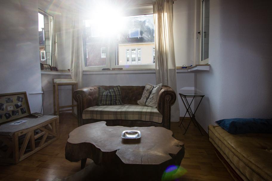 Jochens Wohnzimmer mit seiner Couchecke
