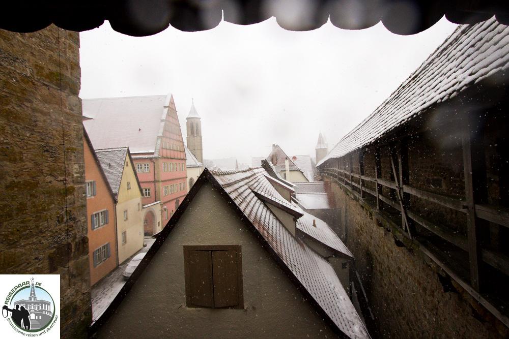 Schnee auf den Dächern - Rothenburg ob der Tauber