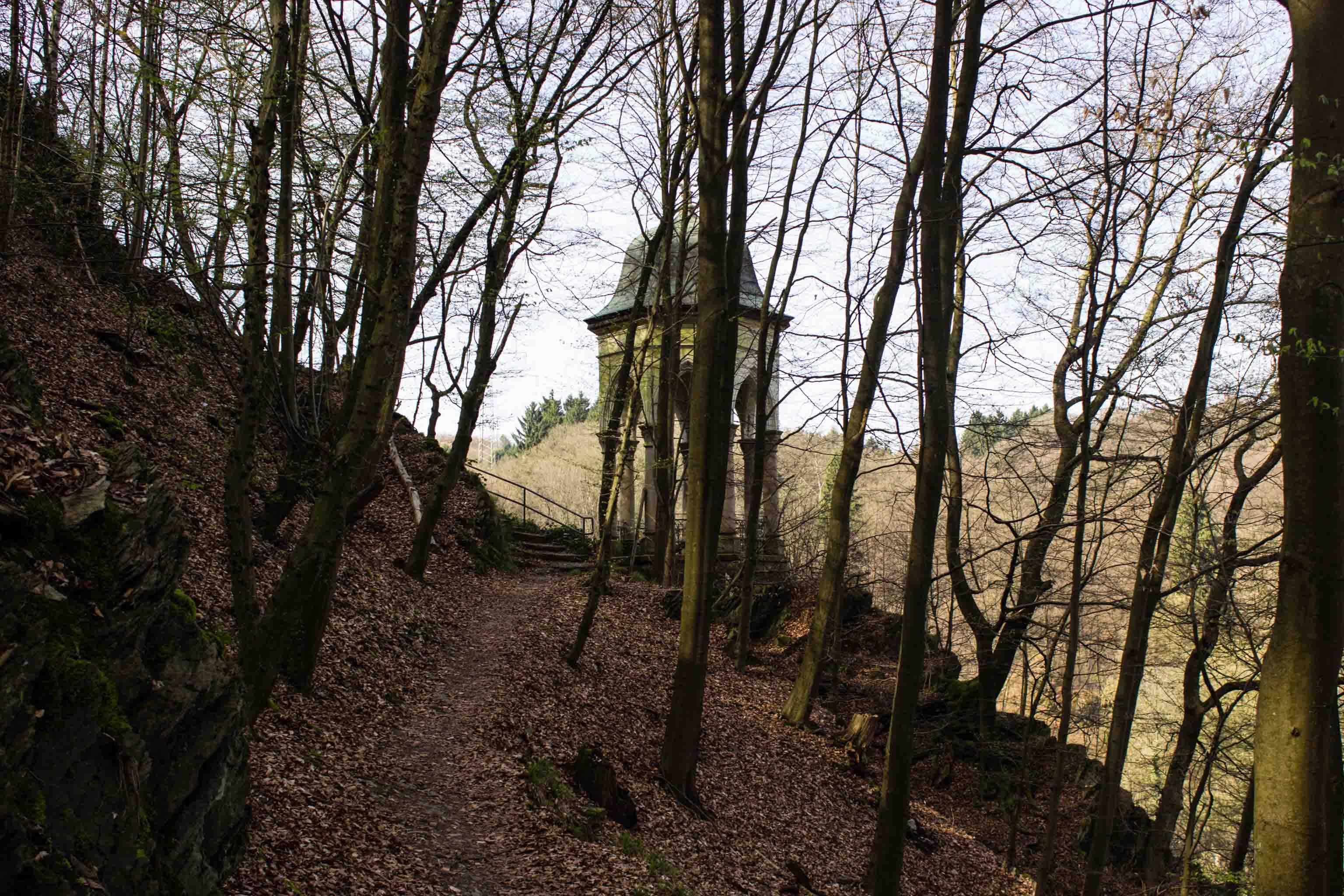 Der Pavillon mit herrlichem Blick auf die Müngstener Brücke