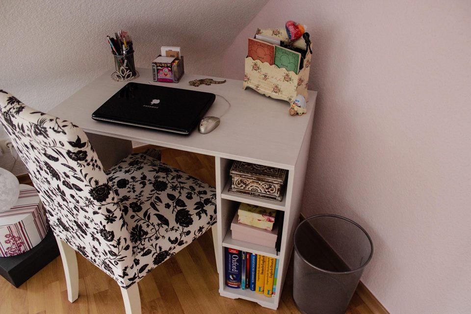 Larissas Schreibtisch
