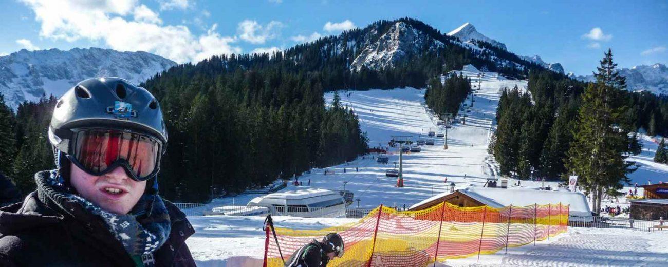 Skifahren Zugspitze Grainau Titelbild